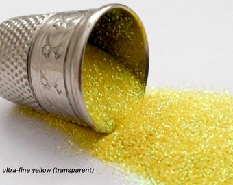 glitter - yellow (transparent) ultra-fine polyester