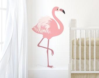 Wall Sticker Flamingo-Decal-Wall Sticker-Pink Flamingo-Bird Decals-Bird Wall Stickers-Wall Art-Nutmeg Wall Stickers
