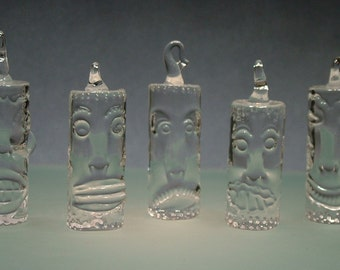 Hand Blown and Sculpted Tiki Ornament