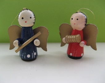 Christmas tree wooden angel ornaments