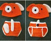 Crochet Puppy set hat