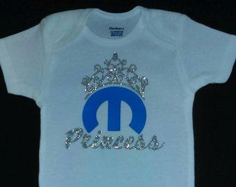 Mopar Princess Baby Girl Onesie or Toddler T-shirt