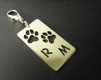 Paw Keyring with personalisation