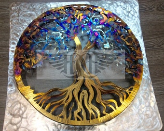 Tree of Life Wall Art (Stainless Steel)