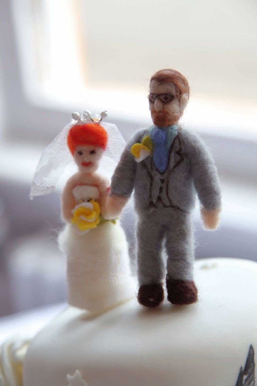 Personalised Hand Crafted Needle Felted Bride Amp Groom Wedding