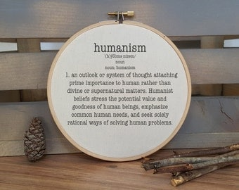 Humanism definition hoop print