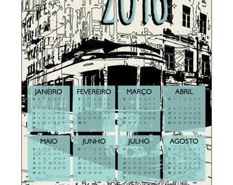 portuguese tram 2016 calendar