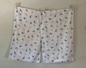 Vintage Blue Floral Polka Dot Pillowcase Set