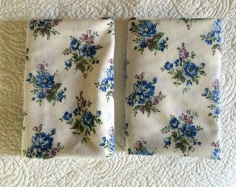 Matched Pair of Floral Pillowcases