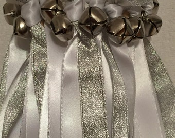 50 Wedding Wands/Wedding Ribbon Wands/Wedding Wand/Wedding Streamers/White and Silver Metallic