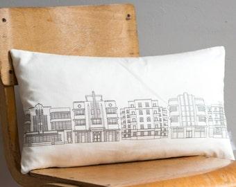 Deco Building Grey Cushion - handmade cushion - home decor - fabric pillow - patterned cushion - grey pillow