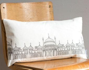 Pavilion Grey Cushion - handmade cushion - home decor - fabric pillow - patterned cushion - Brighton cushion - decorative decor - geometric