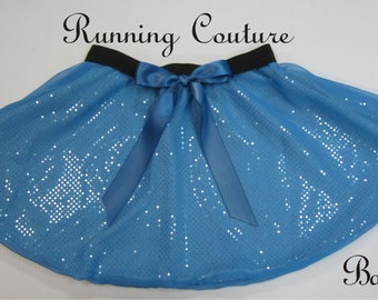 Wendy Darling inspired blue  Sparkle Running Women's round skirt  Tiger Lily, Tinkerbell, Peter pan costume skirt