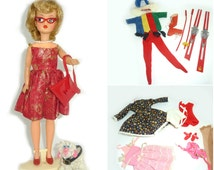 Vintage 1960's Tammy Doll in Japanese Exclusive Outfit with Pearl Necklace by Ideal