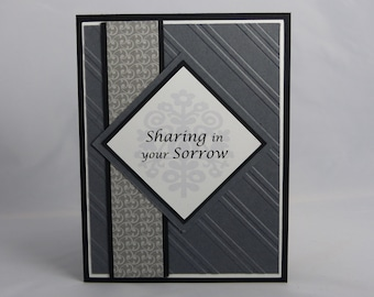 Stampin Up Handmade Greeting Card: Sympathy Card, Condolence Card, With Heartfelt Sympathy, Thinking of You, Funeral, Masculine, Pet