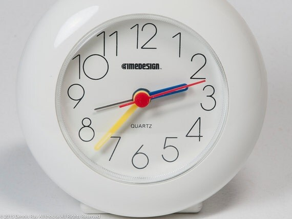 Modern Alarm Clock Made In Germany Timedesigns White Clock