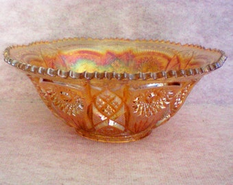 Fashion by Imperial Large Carnival Glass Bowl in Merigold - 4155
