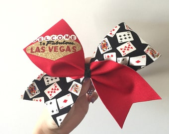 LIMITED EDITION Las Vegas Cheer Bow