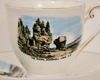 Royal Grafton Fine Bone China Souvenir Teacup The Rocks Hopewell Cape New Brunswick England