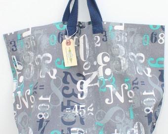 Canvas Bag: Nautical Numbers, washable