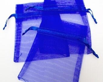 """12 Royal Sheer Organza Bags 3"""" x 4"""""""