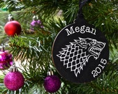 Game of Thrones Christmas Ornament, Stark Ornament, Targaryen Ornament, Greyjoy Ornament, Lannister Ornament