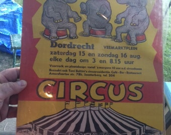 Vintage, German, Circus Picture, Toni Boltini