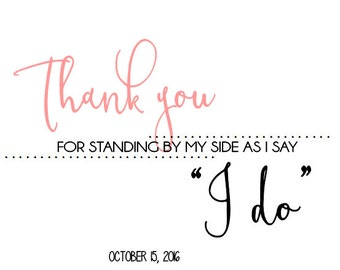 "Bridesmaid ""Thank You"" Card"