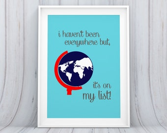 Digital Download Globe World Nursery Art Print Nursery Wall Art Nursery Wall Decor Nursery Printable Digital Art Baby Art 8x10