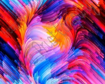 Swirl abstract pattern printed craft  vinyl sheet - HTV or Adhesive Vinyl -  paint effect  HTVWC12