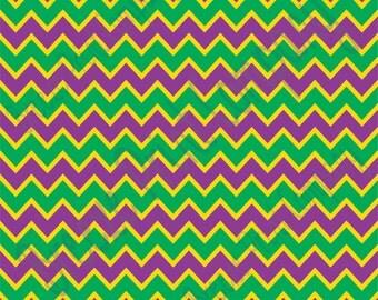 Purple, yellow and green chevron craft  vinyl sheet - HTV or Adhesive Vinyl -  zig zag pattern Mardi Gras HTV182