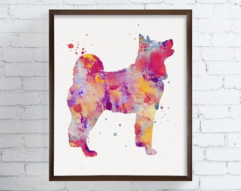 Watercolor Shiba Inu Dog Painting, Shiba Inu Art Print, Shiba Inu Poster, Dog Wall Art, Dog Wall Decor, Shiba Inu Illustration, Colorful