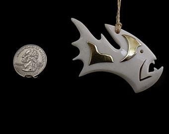 Custom bone fish necklace