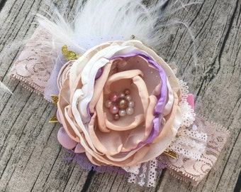 Baby lace couture headband.