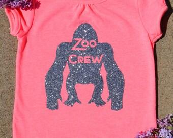 Gorilla Zoo Crew Hot Pink Tee
