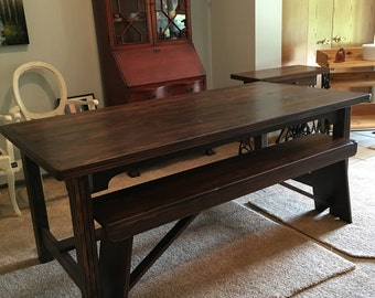 Rustic Farmhouse 6FT Table & Bench