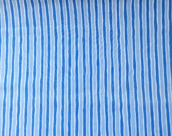 Striped Blue and White Fabric   cotton fabric   fabric by the yard   quilting fabric   sewing material   fabric for kids  