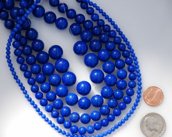 Made To Order Jewelry CUSTOM Blue Beaded stone Necklace, Stone Beaded Jewelry
