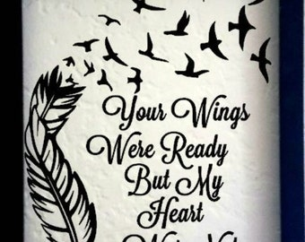 In Memory Plaque, Remembrance Saying, In Memory, Parent Loss frame, Sympathy Gift, Memorial Frame, In Loving Memory, Your Wings were ready