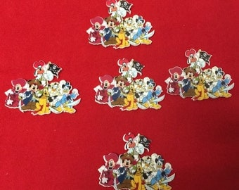 Set of 5 Mickey and Friends Pirate Resin