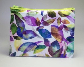 Small Coin Purse, Watercolor Change Purse, Small Zipper Pouch, Abstract Coin Pouch, Gift for Her, Mini Zipper Pouch, Purple Coin Purse