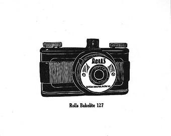 Rolls Bakelite - Letterpress Linocut Print