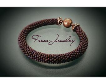 "Bead Crochet Bracelet ""Cere Cere"""