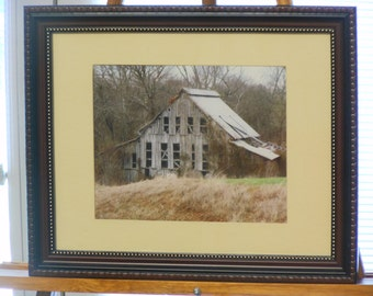Framed Color Photograph of an Old Barn