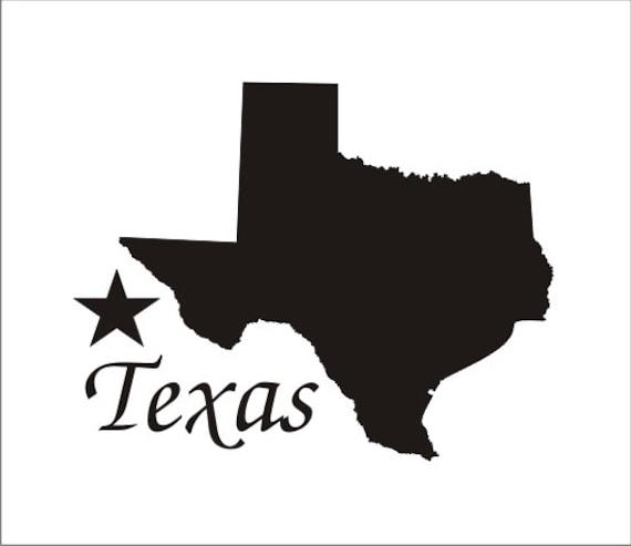 Silhouette Texas Items similar to TEXAS Silhouette STENCIL 5 sizes