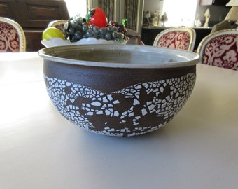 ART POTTERY BOWL Signed S. K. Savage