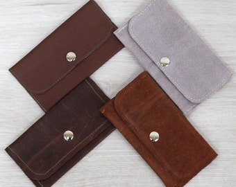 Leather / Suede Tobacco Pouch - Variety of Uses