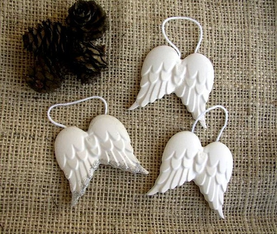 Items similar to set of 6 angel wings christmas for Angels decorations home