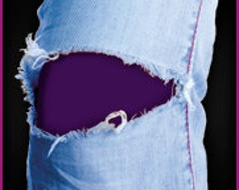 Easy to apply Purple patch goes INSIDE the hole