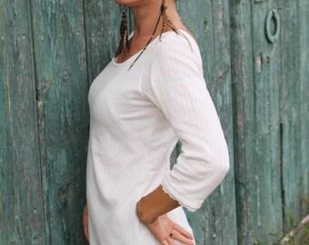 White crossed dress